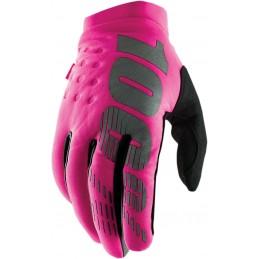 Dámske rukavice 100%  BRISKER PINK/BLACK