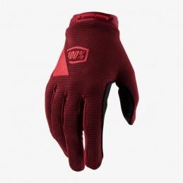 Dámske rukavice 100% RIDECAMP dark red