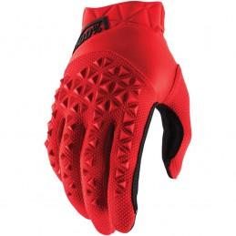 Pánske rukavice 100% AIRMATIC RED/BLACK
