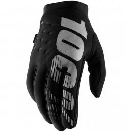 Pánske rukavice 100% BRISKER BLACK/GRAY