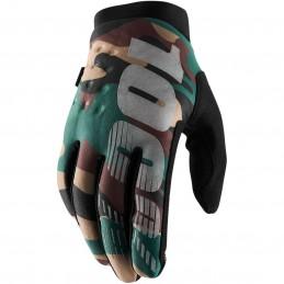 Pánske rukavice 100% BRISKER CAMO/BLACK