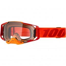 MX okuliare 100% Armega orange clear
