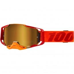 MX okuliare 100% Armega Litkit mirror gold