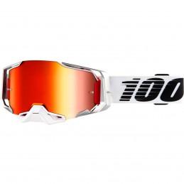 MX okuliare 100% Armega Triple Layer mirror red