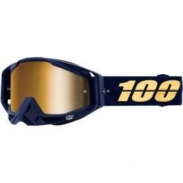 MX okuliare 100% Racecraft  Bakken mirror gold