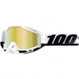 MX okuliare 100% Racecraft Stuu mirror gold