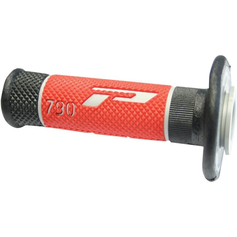 Gripy PRO GRIP triple density offroad 790 s uzavretými koncami šedo-červeno-čierne