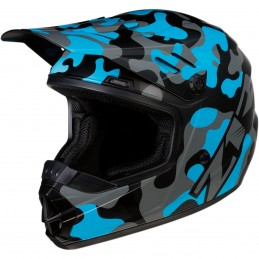Detská prilba na moto Z1R Rise camo blue