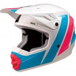 Detská prilba na moto Z1R Rise evac white pink blue