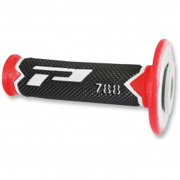 Gripy PRO GRIP triple density offroad 788 s uzavretými koncami šedo-červeno-čierne