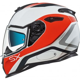 Prilba na motocykel Nexx SX.100 Orion white/red/grey