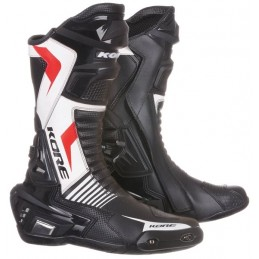 Topánky na motocykel KORE Sport čierne/biele/červené