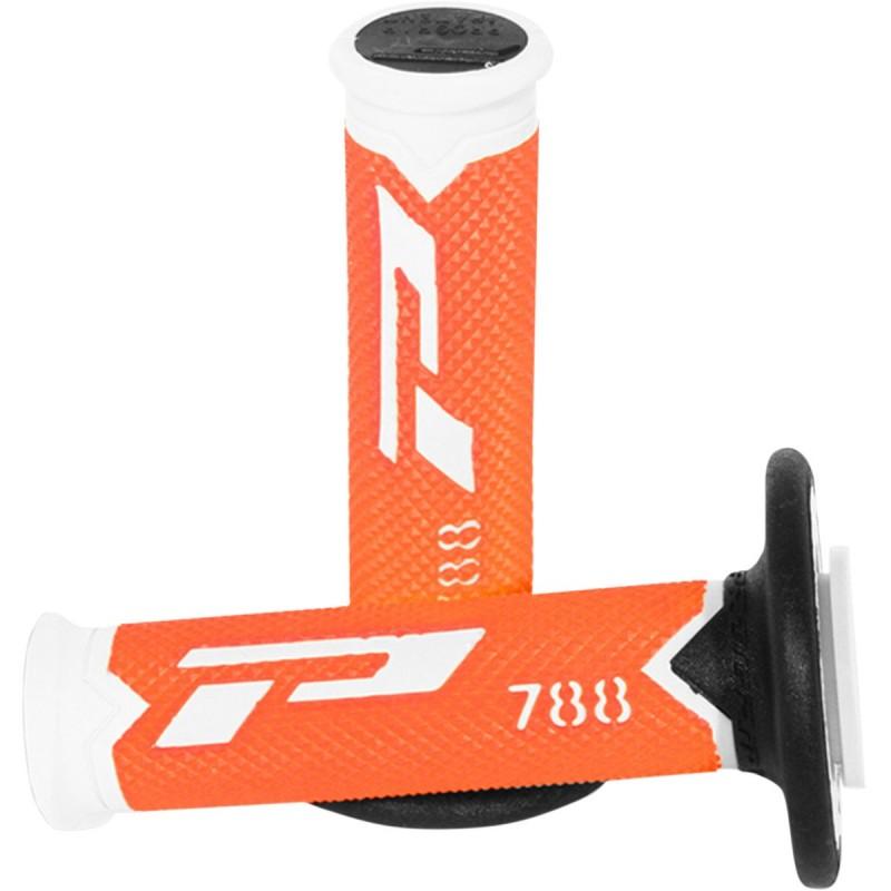 Gripy PRO GRIP triple density offroad 788 s uzavretými koncami bielo-čierno-oranžové
