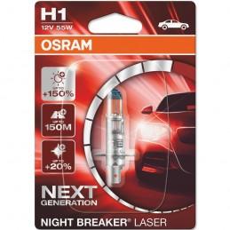 Žiarovka na motorku OSRAM Night Breaker Laser H1 55W 12V blister