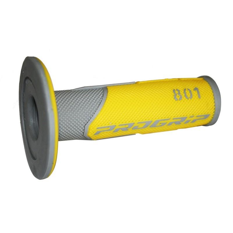Gripy PRO GRIP double density offroad  801 so zatvorenými koncami žlto-šedé