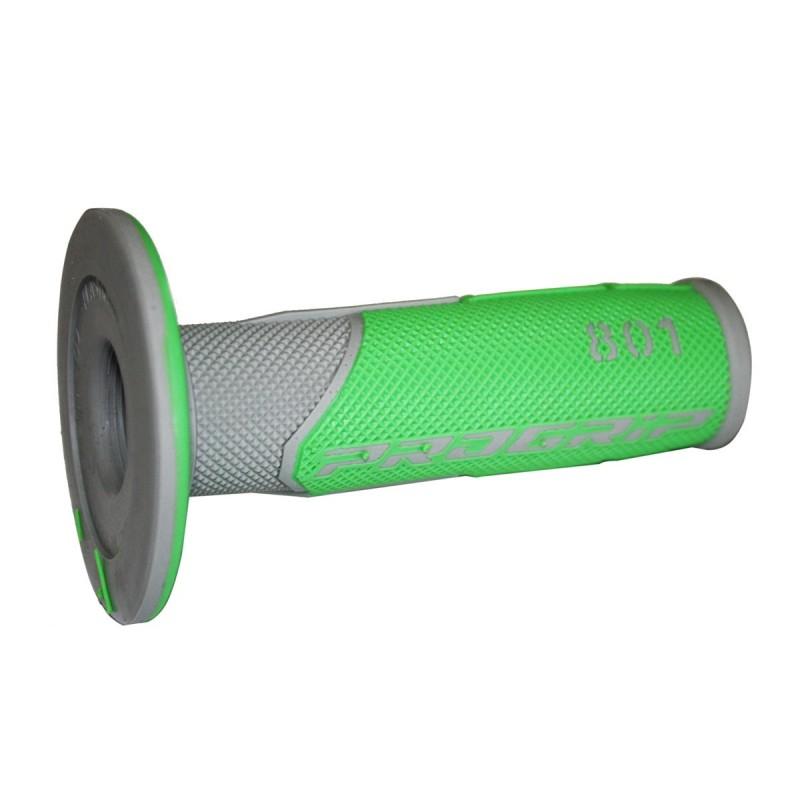 Gripy PRO GRIP double density offroad  801 so zatvorenými koncami zeleno-šedé