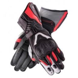 Dámske rukavice REBELHORN rebel čierno-bielo-červené