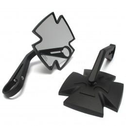 Spätné zrkadlo na riadidlá HIGHSIDER Iron cross 301-112 black