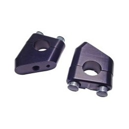 Adaptér na zvýšenie riadidiel Motacc 22mm výška 35mm čierna