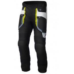 Nohavice na motorku REBELHORN Borg black/grey/flo yellow