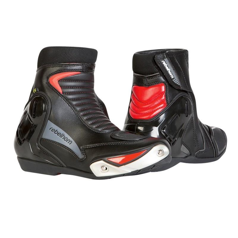 Topánky na motocykel REBELHORN fuel II ce červeno-čierne