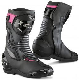 Dámske topánky na motocykel TCX SP-Master čierne/fialové