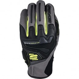 Rukavice na moto FIVE RS4 gray/fluo yellow