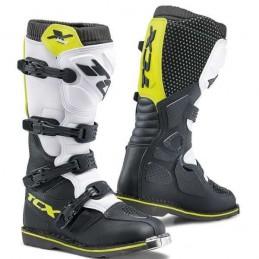 Topánky na motocykel TCX X-blast black/yellow fluo/white