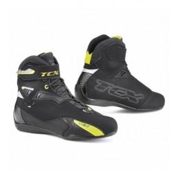 Topánky na motocykel TCX Rush waterproof čierno-neónové