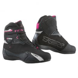 Topánky dámske na motocykel TCX Rush Waterproof čierno-ružové