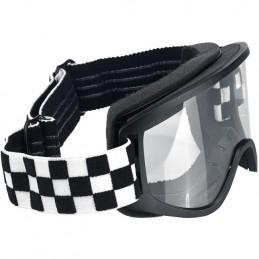 Okuliare na moto BILTWELL Moto 2.0 Checker black/white