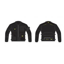 Bunda REBELHORN Brutale dark grey/black/yellow