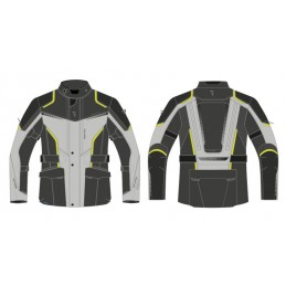 REBELHORN bunda na motorku  Hiker III black/grey/flo yellow