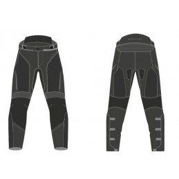 Nohavice na motorku REBELHORN Flux black
