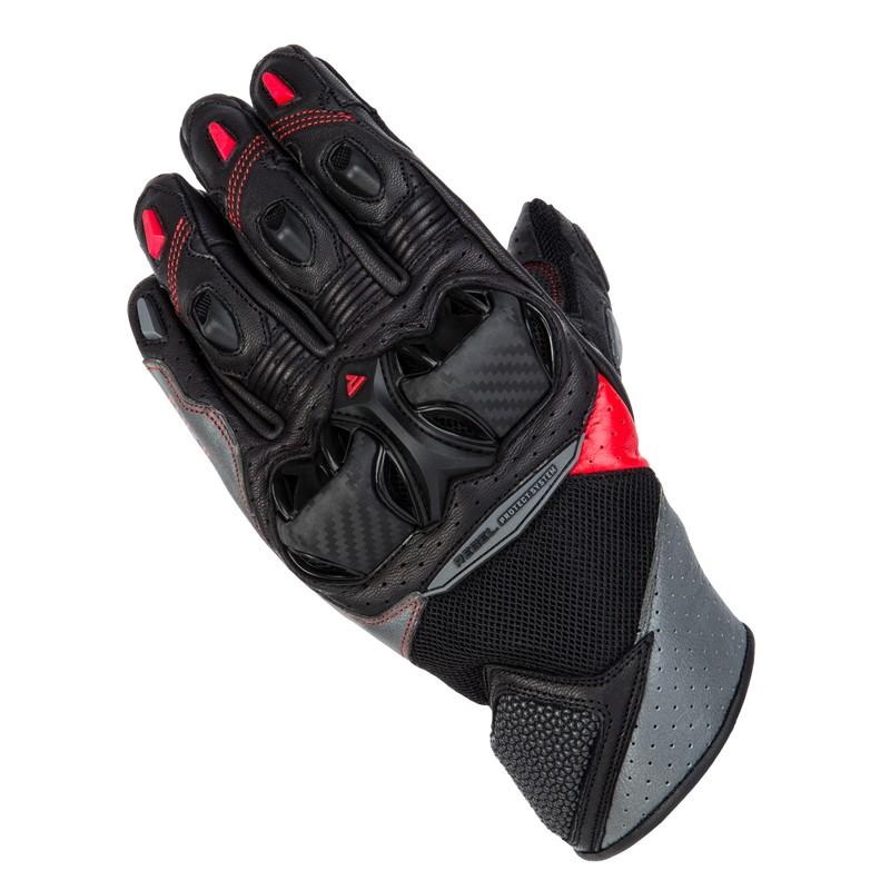 Rukavice na motorku REBELHORN Flux II black grey flo red