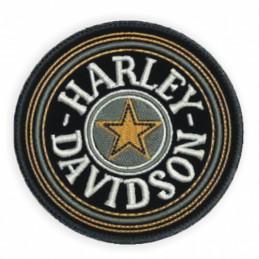 Nášivka BIKERSMODE Harley-Davidson oranžová hviezda