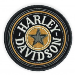 Nášivka BIKERSMODE Harley-Davidson šedá hviezda
