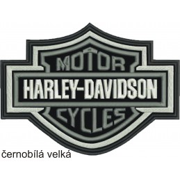 Nášivka BIKERSMODE Harley-Davidson velká čiernobiela