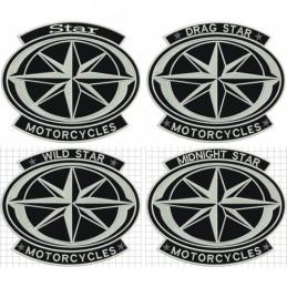 Nášivka BIKERSMODE Star motorcycles veľká STAR