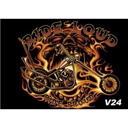 Vlajka Bikersmode Rideloud V24 38x28cm