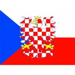 Vlajka Bikersmode CZ+ moravský znak 13x9,5cm