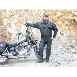 Bunda kožená Bikersmode F-C na chopper čierna