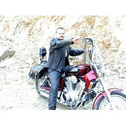 Bunda kožená Bikersmode F-N na chopper čierna