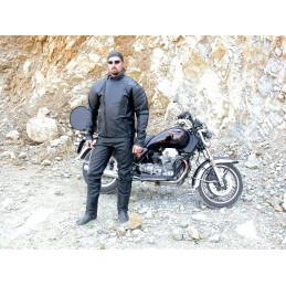 Bunda kožená Bikersmode F-I na chopper čierna