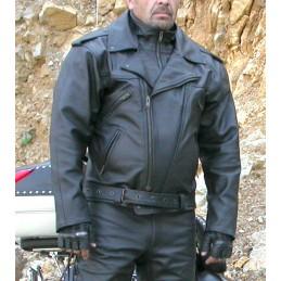 Bunda kožená Bikersmode F-K na chopper čierna