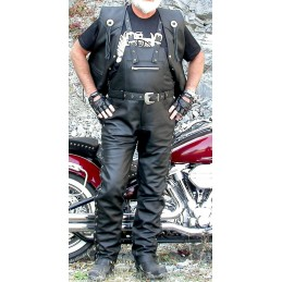 Nohavice kožené Bikersmode KP-1L čierne