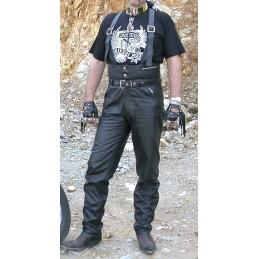 Nohavice kožené Bikersmode KPŠ na chopper čierne