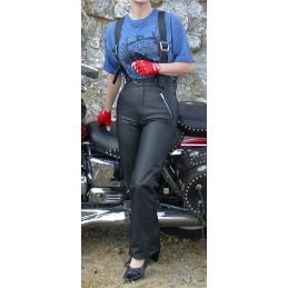 Nohavice dámske kožené Bikersmode KDŠ čierne