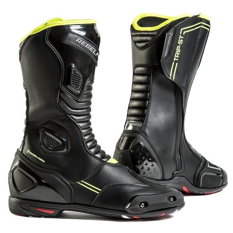Topánky na motocykel REBELHORN trip ST CE čierno-žlté