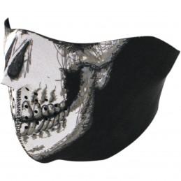 Tvárová maska ZAN HEADGEAR skull face half čierno-šedo-biela